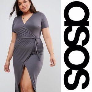 NWT ASOS Curve Wrap Midi Dress